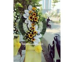 Vòng hoa tang lễ - DH423