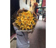 Bó hoa hồng vàng - DH426
