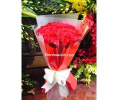 Bó hoa hồng đỏ - DH452