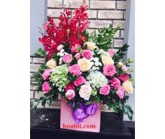 Giỏ hoa dáng cao - DH521