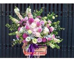 Hoa hộp gỗ - DH551