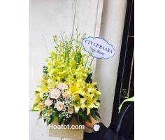 Giỏ hoa tông vàng - DH610
