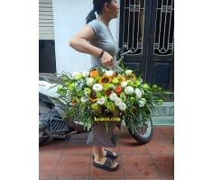 Giỏ hoa đẹp - DH736