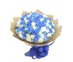 Hoa xanh trắng - DH264