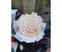 Bó hồng phấn - DH702