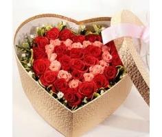 Hoa hộp hình trái tim - DH256