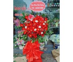 Hoa khai trương rực rỡ đỏ - DH490