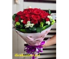Bó hồng tươi thắm - DH178