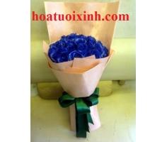 Bó hoa xanh - DH268