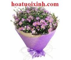 Bó hoa thạch thảo trắng - DH283