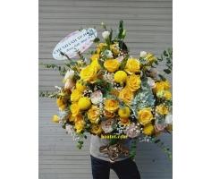 Bình hoa tông vàng - DH735