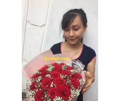 Bó hoa hồng nhập - DH606