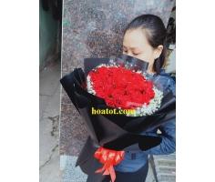 Bó hồng đỏ đẹp - DH881