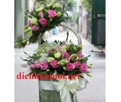 Giỏ hoa chúc mừng đẹp - DH158