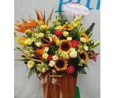 Hoa hộp gỗ - DH465