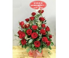 Giỏ hoa hồng - DH411
