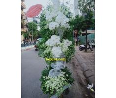 Vòng hoa đám ma trắng - DH895