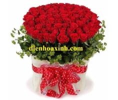 Giỏ hoa tình yêu - DH356