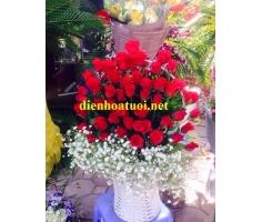Giỏ hoa hồng - DH376