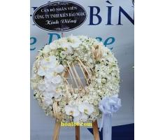 Vòng hoa đám ma trắng - DH896