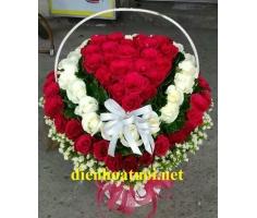 Giỏ hoa trái tim - DH379