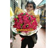Bó hoa hồng đẹp - DH366