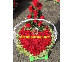 Hoa hình trái tim - DH387
