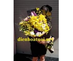 Bó hoa dài đẹp - DH389