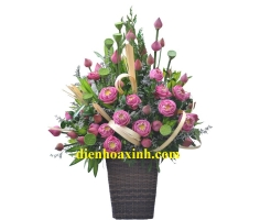 Giỏ hoa sen - DH439