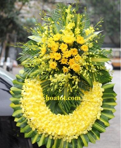 Hoa tang lễ màu vàng - DH658