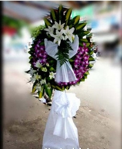Vòng hoa tang lễ - DH221