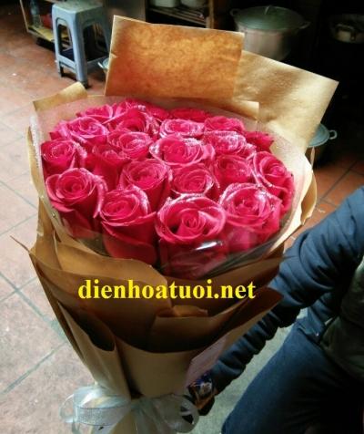 Bó hồng đỏ - DH381