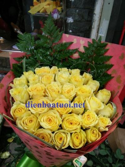Bó hồng vàng - DH390